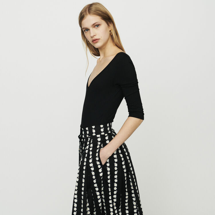 Long sleeve bodysuit : Tops & T-Shirts color Black