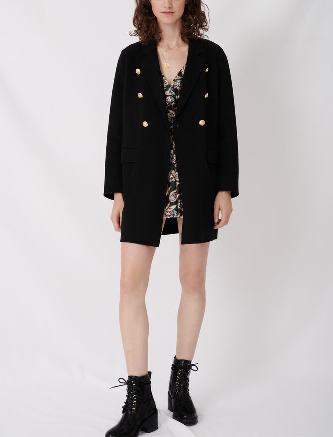 Belted coat in recycled wool - Coats & Jackets - MAJE