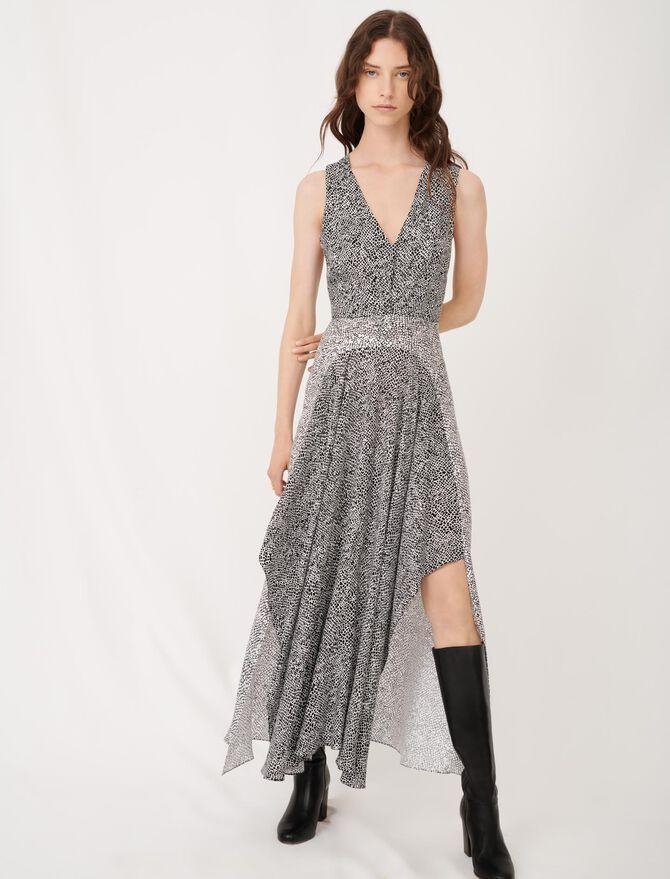Asymmetric animal print occasion dress - Dresses - MAJE