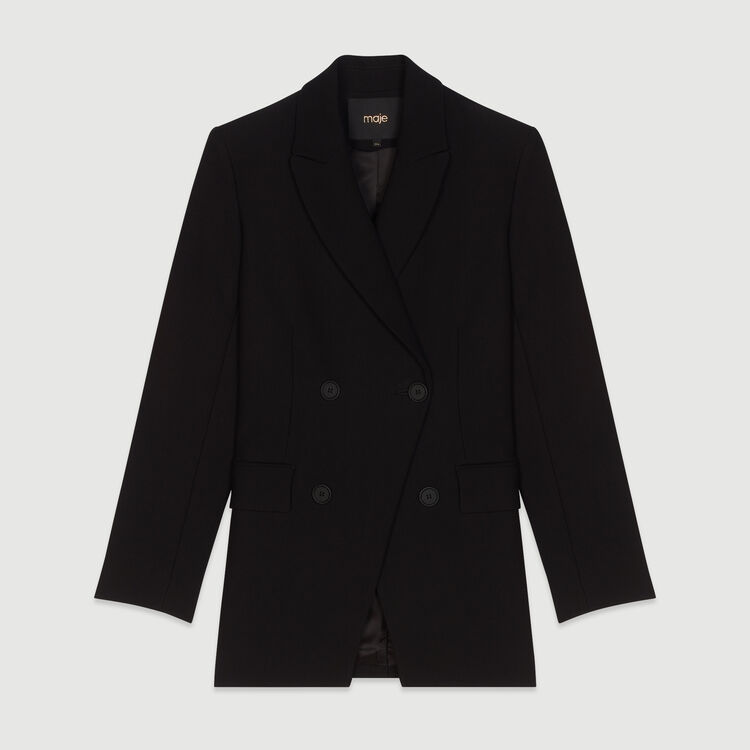 Suit jacket with buttons : Coats & Jackets color Black 210