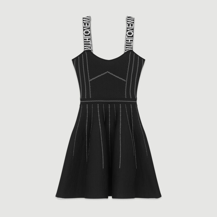 Reversible weaved short dress : New in: Spring Collection color Black 210