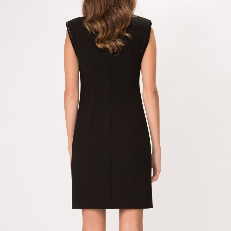 Asymmetric stretch crepe dress : Copy of Sale color