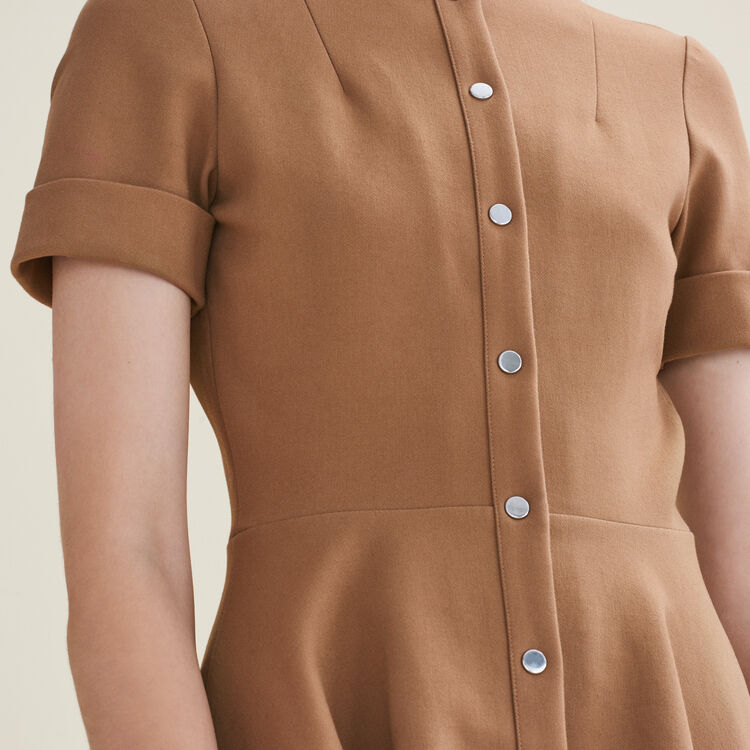 Buttoned skater dress : null color