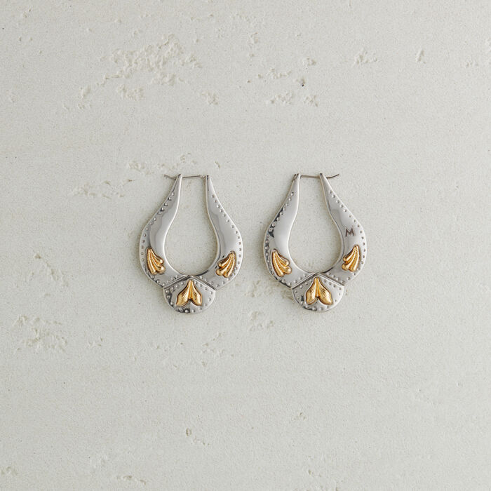 Western-style earrings : Other Accessories color Silver