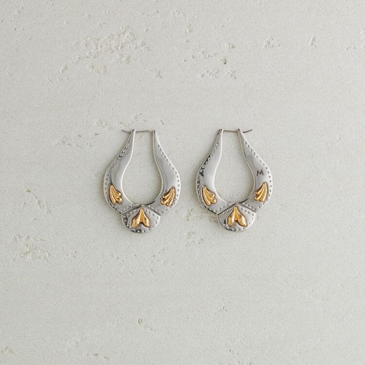 Western-style earrings : Jewelry color Silver