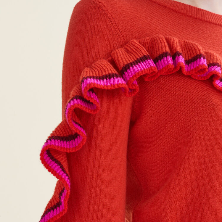 Wool and cashmere ruffle sweater : null color