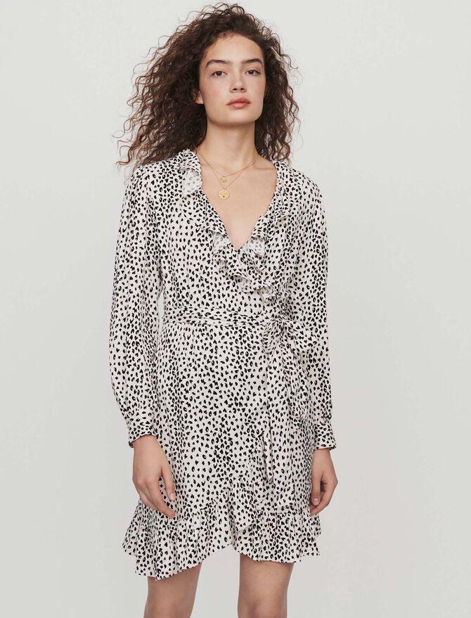 Printed jacquard wrap dress - Dresses - MAJE