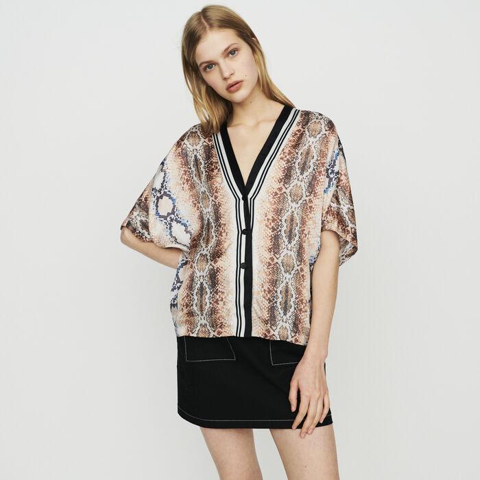 Shirt with python print : Tops & T-Shirts color Printed