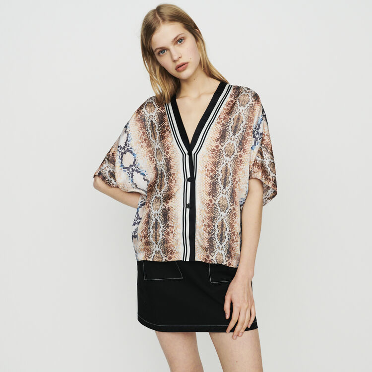 Shirt with python print : Tops & T-Shirts color Printed