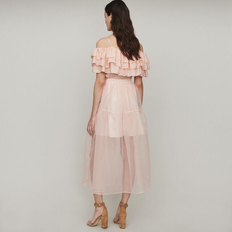 Long organza-style skirt : Skirts & Shorts color Mandarine