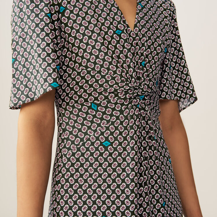 Printed dress with floral print : Dresses color PRINTED