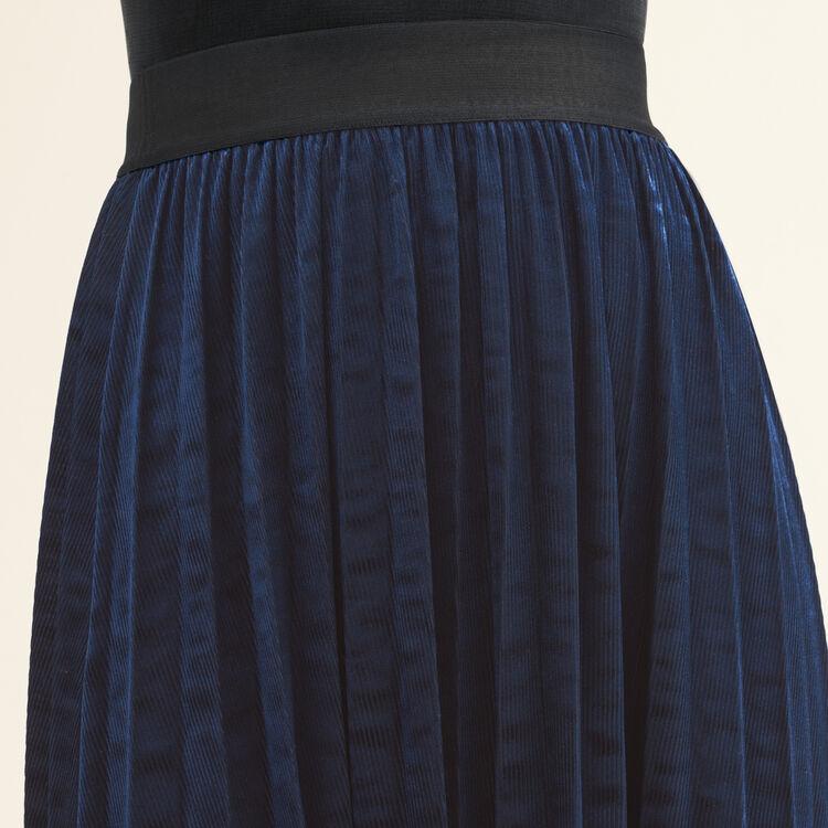 Pleated midi-length skirt : null color