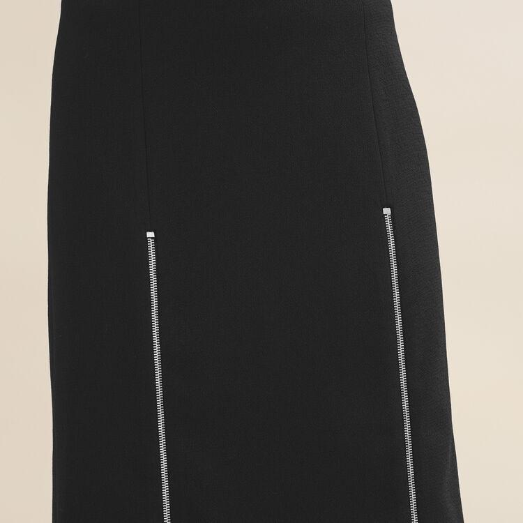 Long crepe skirt - Skirts & Shorts - MAJE