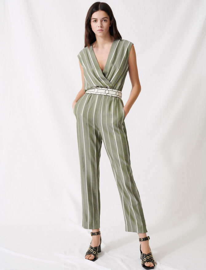 Striped jumpsuit - Jumpsuits & Rompers - MAJE