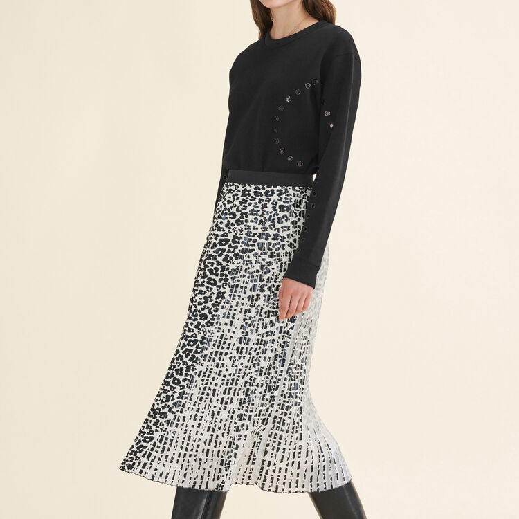 Leopard-print pleated skirt : Skirts & Shorts color PRINTED