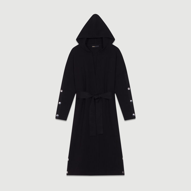 Long hooded cardigan : Sweaters color Black 210