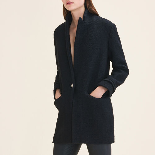 Mid-length tweed jacket : Coats & Jackets color Black 210