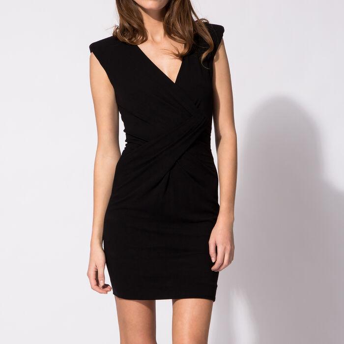 Draped jersey sleeveless dress : Copy of Sale color