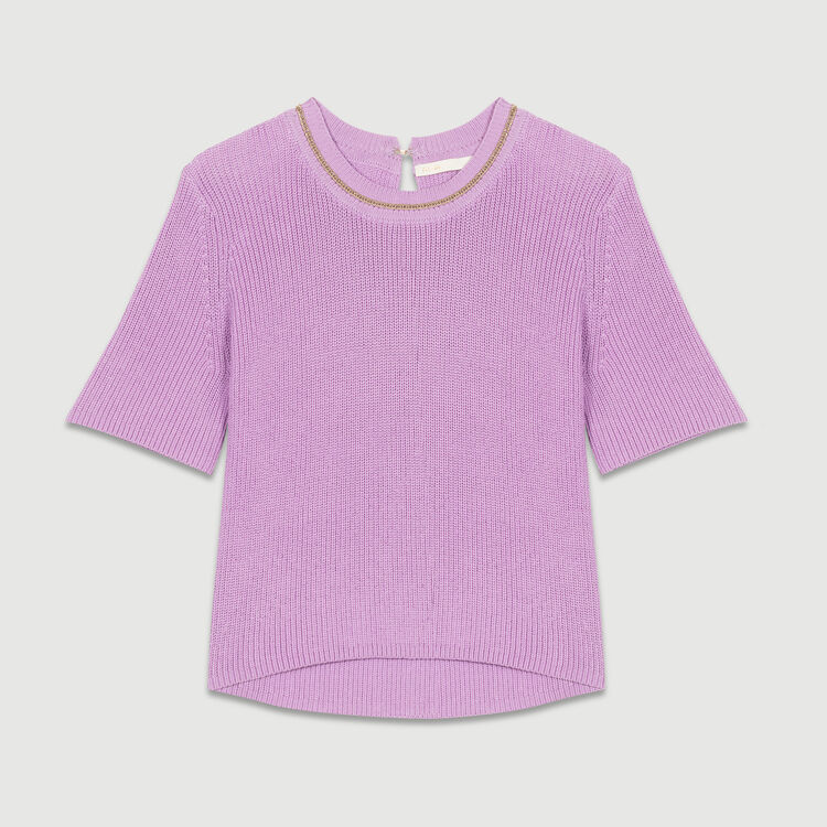 3/4 sleeve jumper : Sweaters color LILAS