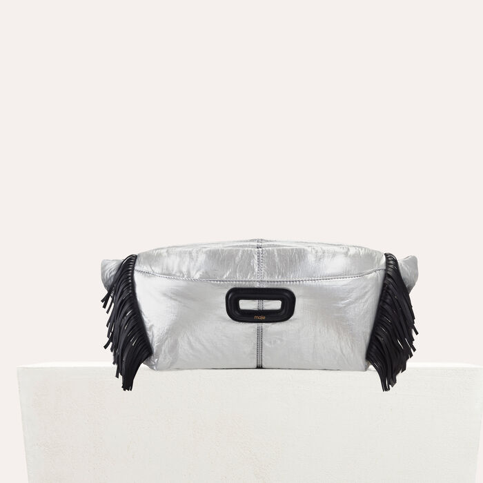 Silver fanny pack with fringe : Handbags & Purses color Silver