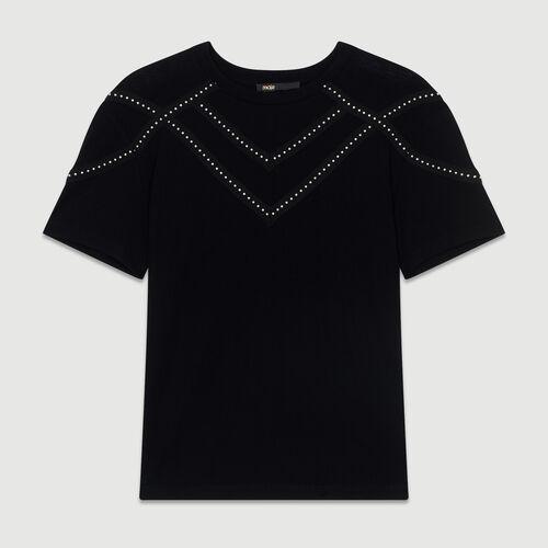 Studded Tshirt : Tops & T-Shirts color Black 210