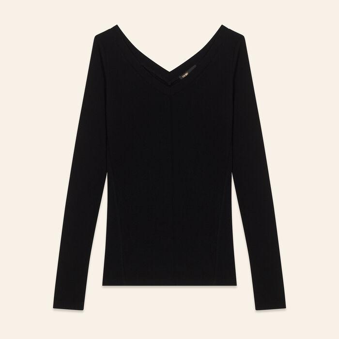 Tee-shirt en jersey : Tops & Shirts color Black 210