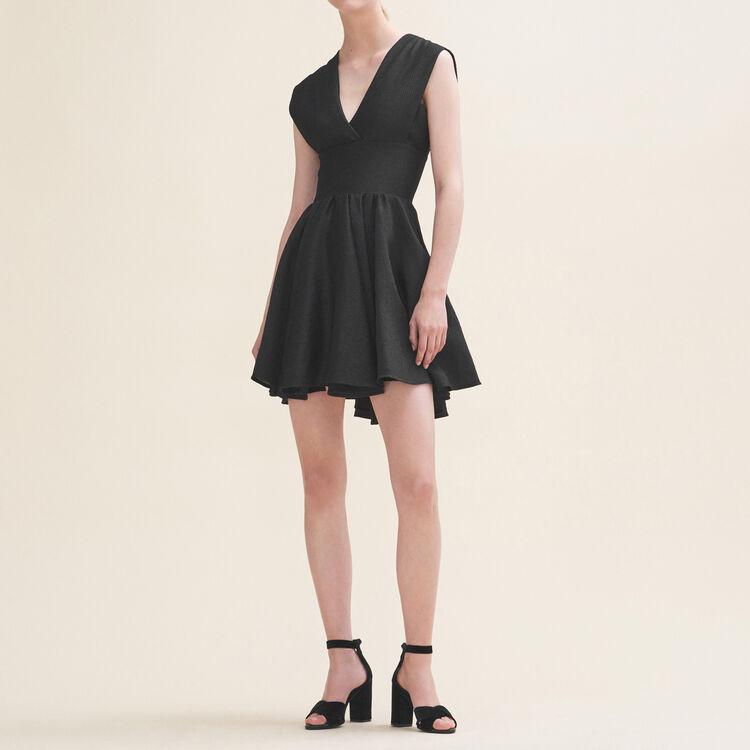 Sleeveless skater dress : Dresses color Black 210