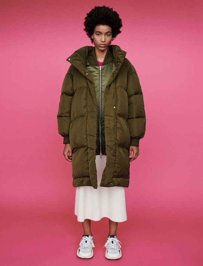 Quilted puffer with stand-up collar - Coats & Jackets - MAJE