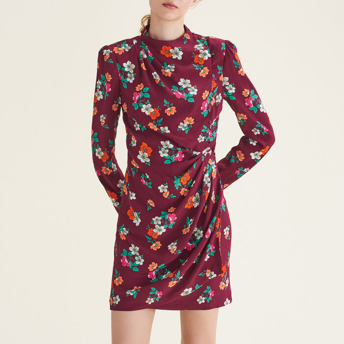 Printed wrapover dress : null color