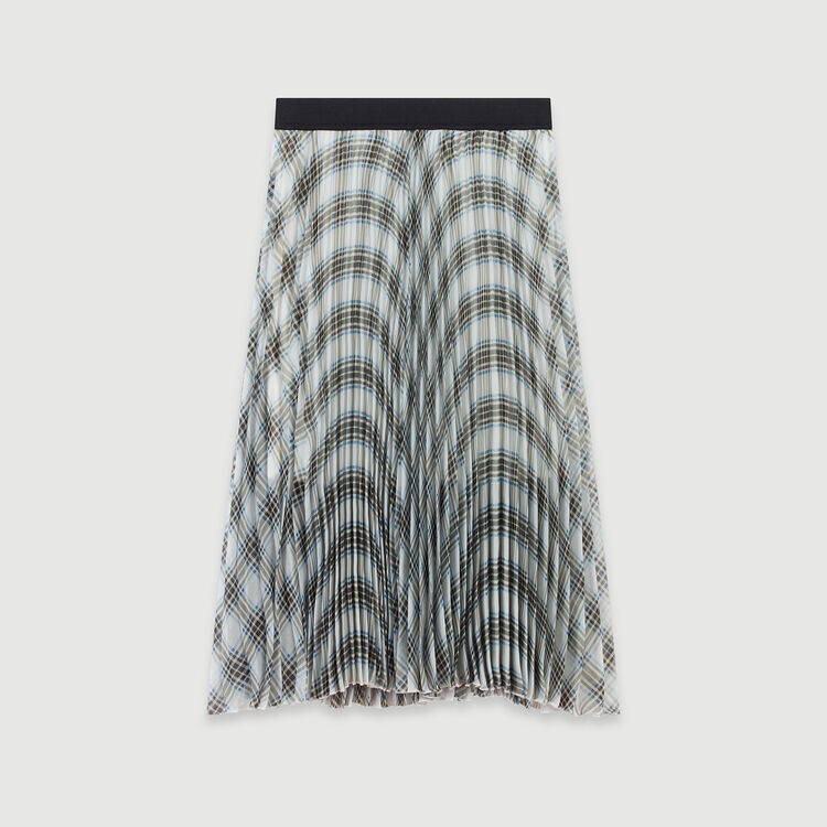 Plaid pleated organza skirt : Skirts & Shorts color Multico