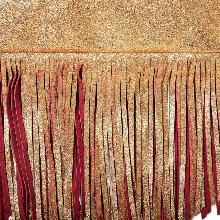 Clutch bag with two-tone tassels : Copy of Sale color