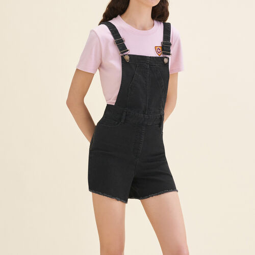 Denim short dungarees - Skirts & Shorts - MAJE