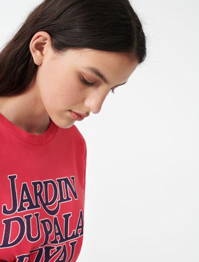 Silkscreen printed T-shirt -  - MAJE
