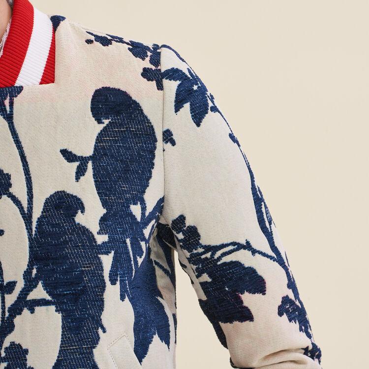Jacquard varsity jacket - Coats & Jackets - MAJE