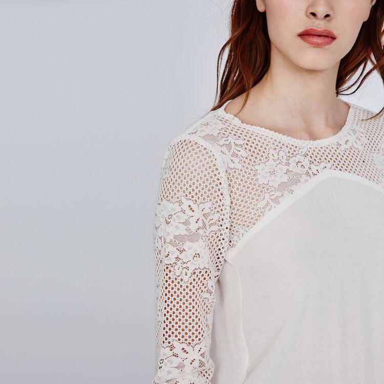 Two-tone lace playsuit : Copy of Sale color