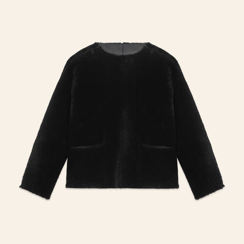 Reversible sheepskin jacket - Coats & Jackets - MAJE