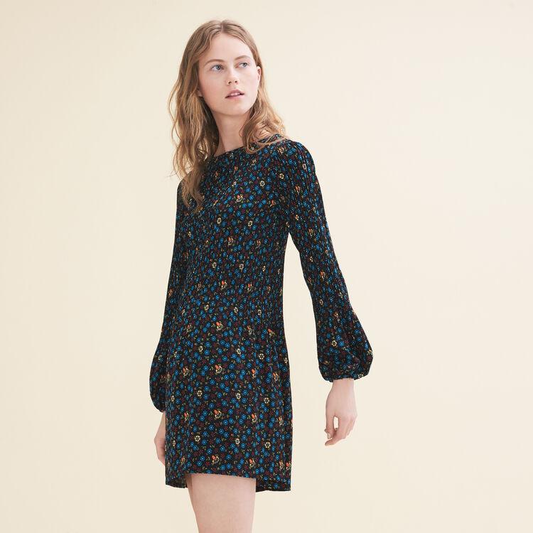 Pleated printed dress - Dresses - MAJE
