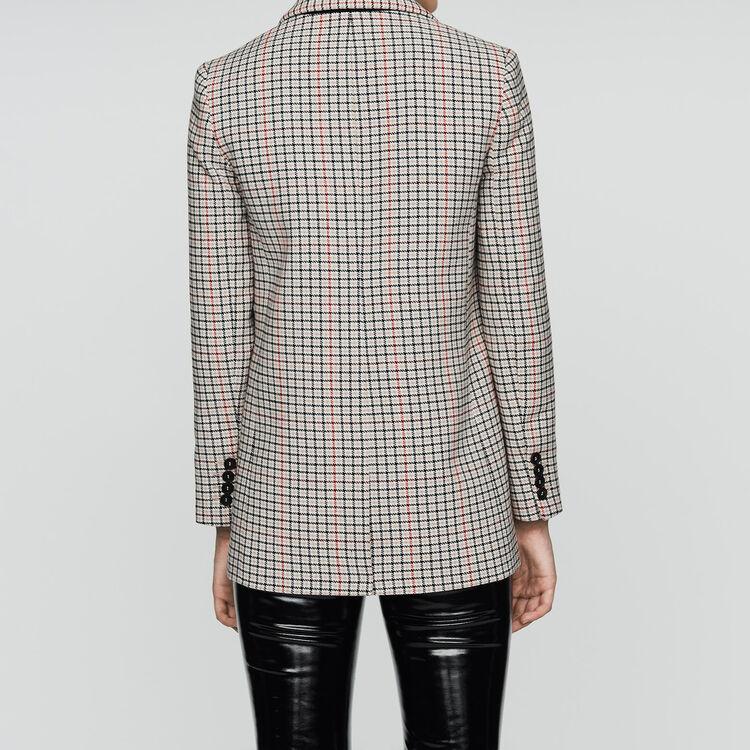 Plaid wool-blend blazer : Coats & Jackets color CARREAUX