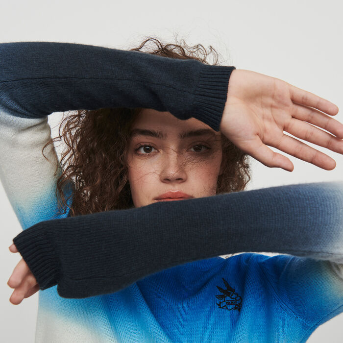 Sweater in color gradient : Sweaters color AZURE BLUE