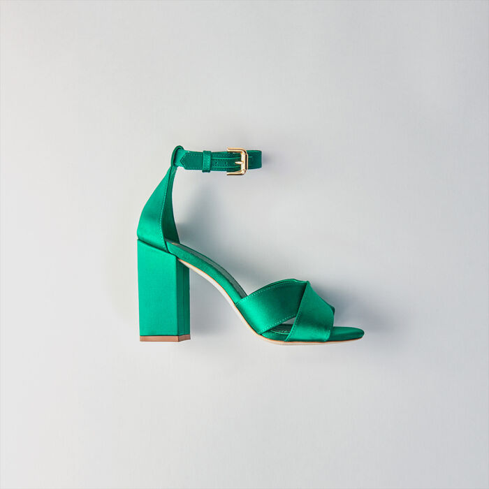 Heeled Sandals : Shoes color GREEN