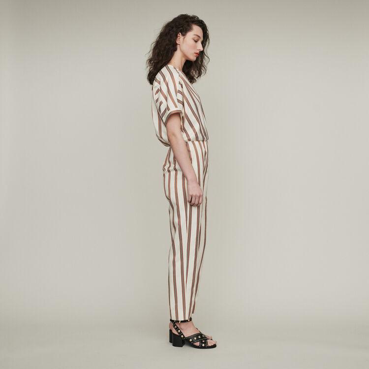 Striped jumpsuit : Jumpsuits & Rompers color Stripe