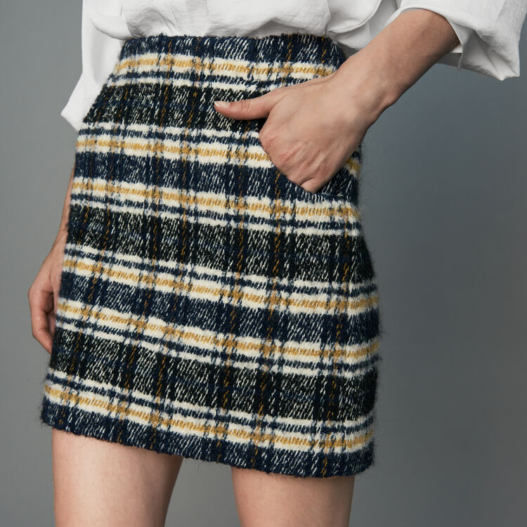 Short plaid skirt : Skirts & Shorts color CARREAUX