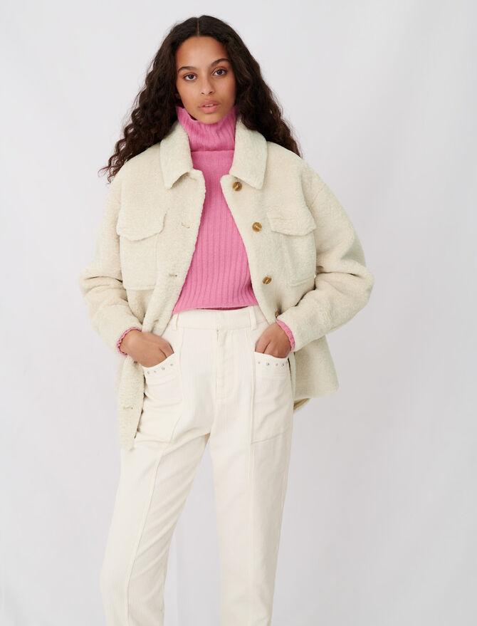 Overshirt-style ecru jacket - Coats & Jackets - MAJE