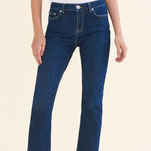 7/8-length stretch cotton jeans : Pants & Jeans color Blue