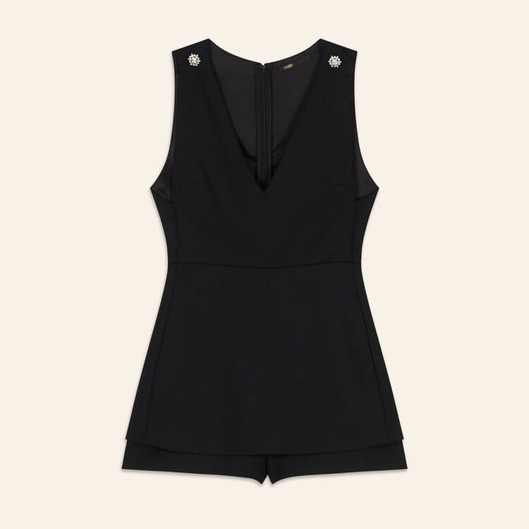 Sleeveless playsuit : Jumpsuits & Rompers color Black 210