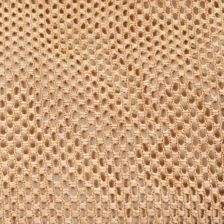 Raffia and leather tote bag : Handbags & Purses color NATURELS