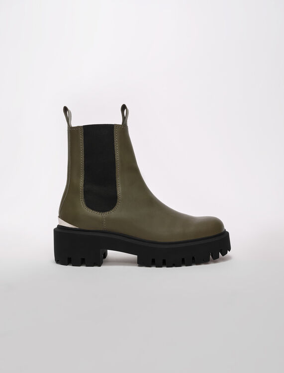 Chelsea boots with platform sole - Boots - MAJE