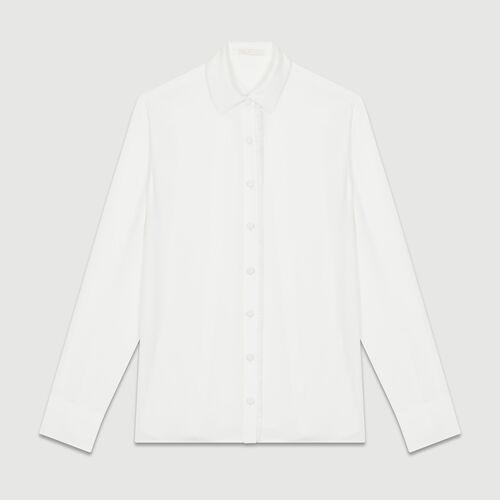 Flowing long-sleeved shirt : Tops & Shirts color Ecru
