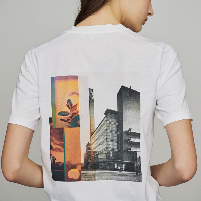 Tee-shirtwith slogan and print : Tops & T-Shirts color White