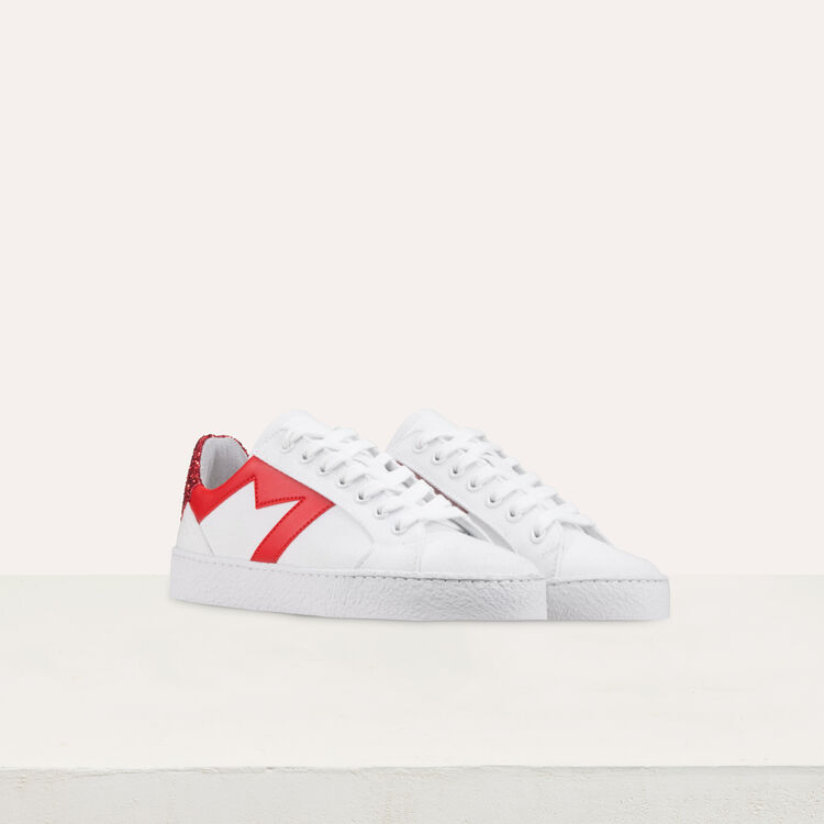 Sneakers with contrasting details : Shoes color White